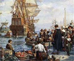 Dec. 21, 1620. The Pilgrims aboard the Mayflower went ashore for the first time at what is now Plymouth, Massachusetts.