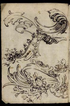 [Dessin d'ornement] | Centre de documentation des musées - Les Arts Décoratifs Japanese Prints, Japanese Art, Art Sketches, Art Drawings, Wave Drawing, Centre De Documentation, Water Patterns, Asian Art, Creative Art