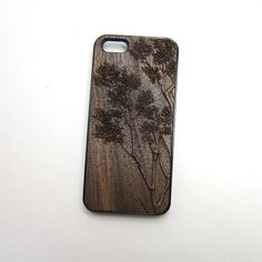 i phone cover wood i phone 4 5 case carved walnut in 3 by MyFacePC, $25.95