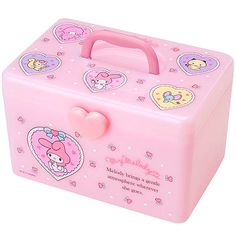 My Melody Plastic Storage Box with Sections Baby Guinea Pigs, Hello Kitty My Melody, Girly Phone Cases, Kawaii Room, Plastic Box Storage, Hello Kitty Wallpaper, All Things Cute, Little Twin Stars, Everything Pink