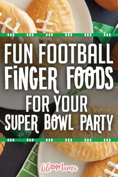 The best part of Super Bowl parties is all the food and I've found some fun (and funny) finger foods that will bring new life to your party. It may be a tad overboard to do them ALL at the same party, but you're bound to find a few you can't pass up.
