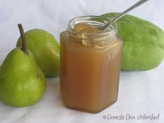 Domestic Diva: Pear & Choko Jam Getting back to Basics Jam Recipes, Canning Recipes, Free Recipes, Chayote Recipes, Pineapple Jam, Pear Jam, How To Make Jam, Meals In A Jar, Frozen Blueberries