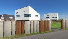 modern mix fence by FANCY FENCE