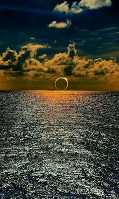 South Pacific eclipse captured over the ocean. 2016