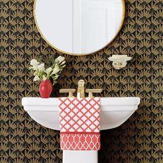 black&gold small prints Empire Papier Peint Wallpaper Paste, Print Wallpaper, Pattern Wallpaper, Bungalow Exterior, Solid Color Backgrounds, Book Names, Pattern Matching, Designer Wallpaper, Black Gold