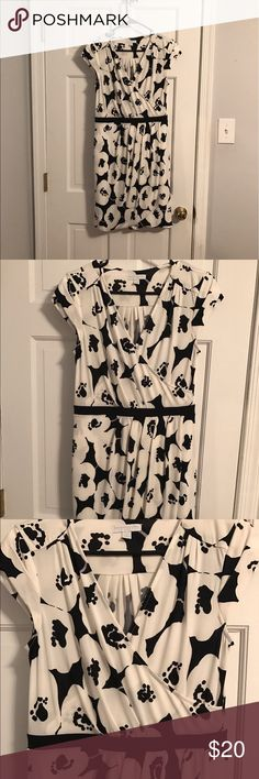 NY & Co. dress NY & Co. black and white floral dress. Size medium. Flattering cut.  Only worn a couple times. New York & Company Dresses
