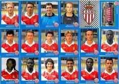 Images panini de l' AS Monaco FC Retro Football, Vintage Football, Football Soccer, As Monaco, Vignettes, Squad, Sports, Image, Trading Cards