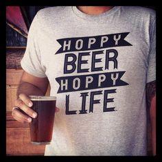 Hoppy Beer Hoppy Life Heather Gray and Black door HoppyBeerHoppyLife Coffee With Alcohol, Beer Quotes, Beer Art, Gifts For Beer Lovers, Beer Snob, Beer Shirts, Beer Tasting, Beer Recipes, Drinking Shirts