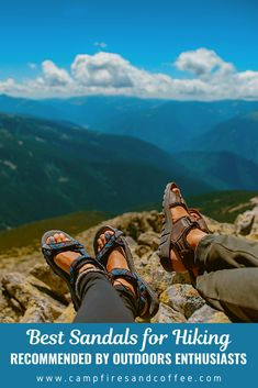Hiking doesn't have to mean heavy boots and thick socks. Check out some of the best sandals for hiking as recommended by outdoor enthusiasts.  #hiking #hikingsandals #hikinggear #sandals #chacos #tevas #bedrocks #keens #xero #luna Go Hiking, Hiking Tips, Hiking Gear, Hiking Backpack, Best Places To Vacation, Hiking Essentials, Hiking Sandals, Thick Socks, Adventure Activities
