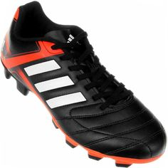 Chuteira Adidas Puntero IX FG Campo Masculina Preta   Vermelha 8eb36a22fbe3d