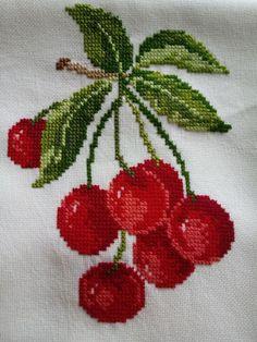 123 Cross Stitch, Cross Stitch Fruit, Cross Stitch Borders, Cross Stitch Flowers, Modern Cross Stitch, Cross Stitch Charts, Cross Stitch Designs, Cross Stitch Patterns, Loom Patterns