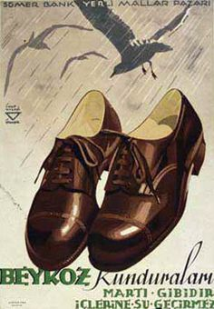 Old Poster, Good Old Times, Old Advertisements, Turkish Art, Old Ads, Advertising Poster, Historical Pictures, Illustrations And Posters, Istanbul