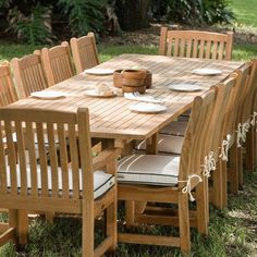 Veranda 12 Person Dining Table Teak Furniture Set - Westminster Teak Outdoor Furniture #TeakOutdoorFurnituregardens