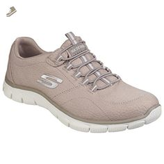 Skechers Womens/Ladies Empire Take Charge Lace Up Trainers/Sneakers (7 US) (Taupe) - Skechers sneakers for women (*Amazon Partner-Link)