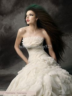 Awesome Ball Gown Strapless Floor Length Chapel Tiered Wedding Dress