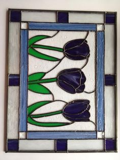 Tulips In Purple - Delphi Stained Glass