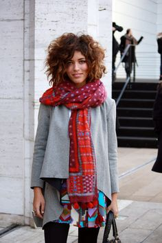 Christina Caradona from Trop Rouge in Nanette's skirt and scarf