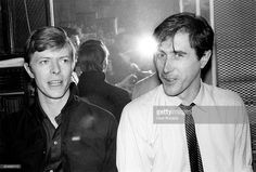 <a gi-track='captionPersonalityLinkClicked' href=/galleries/search?phrase=David+Bowie&family=editorial&specificpeople=171314 ng-click='$event.stopPropagation()'>David Bowie</a> backstage with <a gi-track='captionPersonalityLinkClicked' href=/galleries/search?phrase=Bryan+Ferry&family=editorial&specificpeople=206306 ng-click='$event.stopPropagation()'>Bryan Ferry</a> at Roxy Music's show at the Tower Theater in Philadelphia, Pa on March 30, 1979.