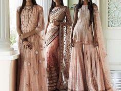 """Tarun Tahiliani's Fall/Winter collection 2018 "" Peach Color Dress, Peach Colors, Peach Colour Combinations, Ethenic Wear, Perfect Peach, Tarun Tahiliani, Asian Fashion, Indian Outfits, Gowns"