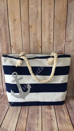 Nautical Canvas Bag with Anchor. Travel by LisasTutus Nautical Canvas Bag with Anchor. Travel by LisasTutus Nautical Canvas Bag with Anchor. Travel by LisasTutus Nautical Outfits, Nautical Fashion, Nautical Clothing, Nautical Canvas, Nautical Bags, Nautical Rope, Summer Christmas Gifts, Navy Wedding Shoes, Bag Essentials