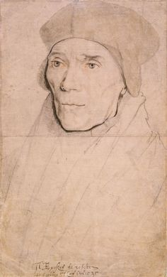 John Fisher, Bishop of Rochester by Hans Holbein the Younger - List of portrait drawings by Hans Holbein the Younger - Wikipedia Renaissance Kunst, Renaissance Portraits, L'art Du Portrait, Portrait Sketches, Tudor History, Art History, Hans Holbein Le Jeune, Hans Holbein The Younger, Anne Boleyn