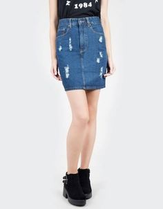 Jeans skirts in different style!