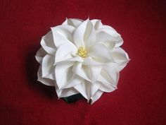 PDF Tutorial Fabric Flower Dahlia removable design by Avonessa, $5.50 #fabricflower #flowertutorial