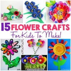 15 Flower Crafts For Kids - I Heart Arts n Crafts