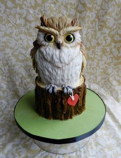 Owl by Cake Wrecks - Home Crazy Cakes, Fancy Cakes, Cute Cakes, Owl Cakes, Bird Cakes, Cake Central, Beautiful Cakes, Amazing Cakes, Beautiful Owl