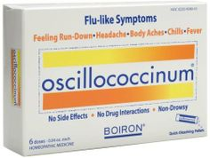 Boiron Homeopathic Medicine Oscillococcinum for Flu - Decreased duration of flu and helps symptoms