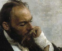 Ilya Repin (1844-1930) Portrait of Professor Ivanov (detail), 1882