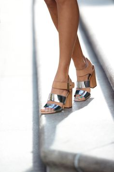 Go metallic this summer and spring. Metallics are neutral so they go with anything. You can even mix your silver and gold metallics to jazz up an otherwise simple fit. Near 25% of women turn to high heels or jeans when they want to show their self confidence. #tjmaxx #maxxexpression