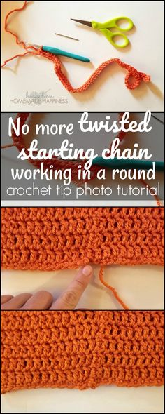 You know projects that have a starting chain you need to join to make a loop? Then you're supposed to crochet around the chain without twisting the chain? Impossible task, I tell you!! I always, always get my chain all twisted when having to join it to work in a round. ALWAYS. I want to …