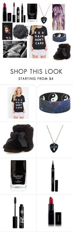 """""""Sleepover with Luke"""" by sarahorantomlinson ❤ liked on Polyvore featuring Forever 21, Kate Spade, Butter London, Napoleon Perdis, Rouge Bunny Rouge and Illamasqua"""