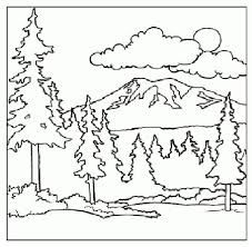 preschool forest coloring page