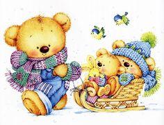 ʕ •́؈•̀ ₎♥                                                               Bears by Marina Fedotova