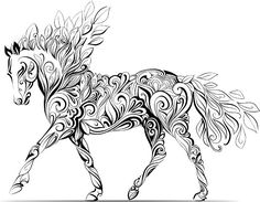 How Adult Colouring Therapy Could Improve Your Mental Health Printable Coloring PagesColoring BooksUnicorn PagesHorse