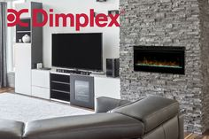 Beautiful installation of a Prism Linear Electric Fireplace!