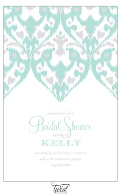 Ikat wedding invitation. See the post at http://tulleandtwine.com/2013/8/29/ikat-invitations