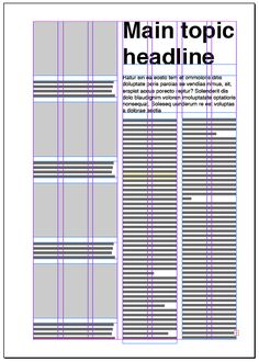 Columns – Backbone of Every Good Layout Seven column layout. This is also a great number of columns because it gives you even more options for your design.Layout Layout may refer to: Newspaper Layout, Newspaper Design, Graphic Design Layouts, Brochure Design, Brochure Layout, Design Posters, Corporate Brochure, Corporate Design, Brochure Template