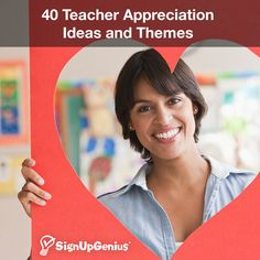 40 Teacher Appreciation Ideas and Themes. Tips and ideas for parties, gifts and random acts of kindness for your school's teachers and staff members.