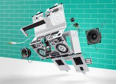 Berlin Boombox Speaker Roze