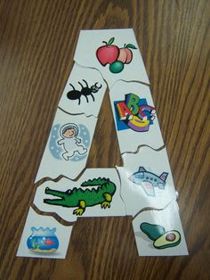DIY letter puzzles.  Just create a hollow letter using word art, and then add clip art pieces that begin with that letter.  Laminate and then cut into pieces.  Great for morning table time or in a busy bag for those down times when you're trying to get stuff done, and the kids need something productive to do.
