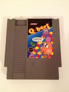 Vintage Qbert Nintendo NES Game 1989