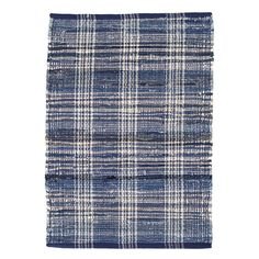 Think of this rug as you would your favorite jeans—it's just that versatile and essential, from living room to office. The plaid is woven from cotton yarns in every shade of blue (with hints of ivory), to achieve the broken-in effect of much-loved denim. • FEATURES & BENEFITS: Durable construction; soft underfoot; lightweight, low profile, and often reversible. • WHERE TO USE: High- and low-traffic spaces; well-used family areas like hallways, bedrooms, and stairs. Learn more. Dash And Albert, Cheap Rugs, Indoor Outdoor Rugs, Carpet Runner, Runner Rugs, Blue Plaid, Woven Rug, Blue Area Rugs, Blue Rugs