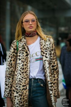 awesome Street Style : Romee Strijd by STYLEDUMONDE Street Style Fashion Photography...