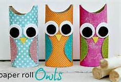 toilet paper roll owl craft-these would make cute marker/pencil holders for my owl loving kid.