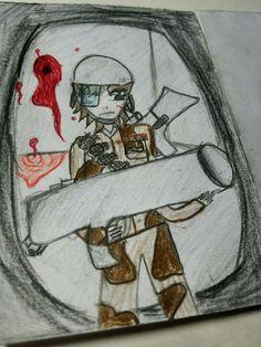 쭉쭉이가 군인이 바주카포 들고 있는 그림을 그렸다.  ㅎㅎㅎ 군인이 되고 싶으신 것인지...  아빠는 쭉쭉이가 군인이 되는 것도 괜찮다.  언제나 응원해~~~  #쭉쭉이