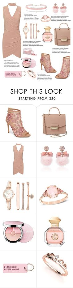 """""""~Pink~ ~Cute~"""" by nicoleema ❤ liked on Polyvore featuring Jessica Simpson, Furla, WearAll, Ranjana Khan, Anne Klein, Guerlain, Tory Burch and Various Projects"""