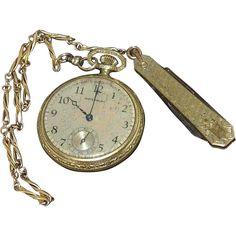 Waterburg 5 Jewel Pocket Watch, Simons Watch Chain and Chatelaine Knife
